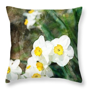 Floral Delight Throw Pillow by Davina Washington