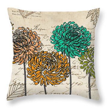 Floral Delight V Throw Pillow by Lourry Legarde