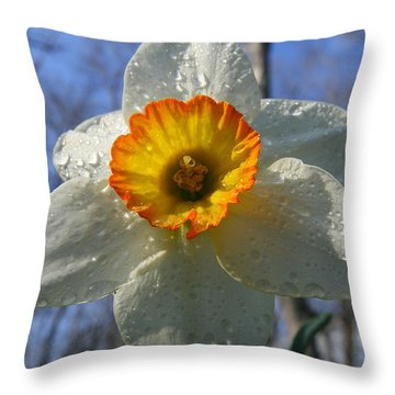 Floral Dew  Throw Pillow by Neal Eslinger