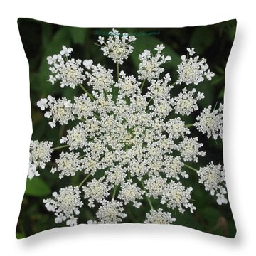 Floral Disc Throw Pillow by Sonali Gangane