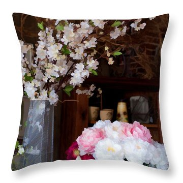 Floral Display Throw Pillow by Liane Wright