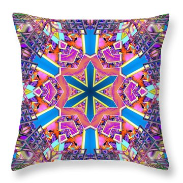 Floral Dreamscape Throw Pillow