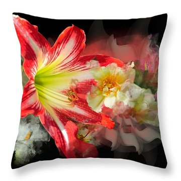 Throw Pillow featuring the digital art Floral Explosion by Davina Washington