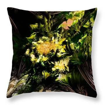 Throw Pillow featuring the digital art Floral Expression 020215 by David Lane