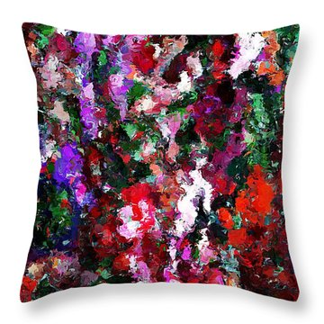 Floral Expression 021015 Throw Pillow by David Lane