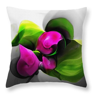 Floral Expression 111213 Throw Pillow by David Lane
