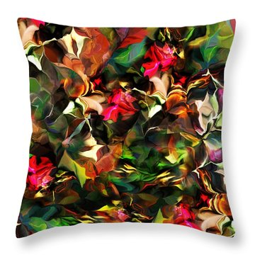 Throw Pillow featuring the digital art Floral Expression 121914 by David Lane