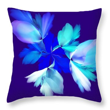 Throw Pillow featuring the digital art Floral Fantasy 012815 by David Lane