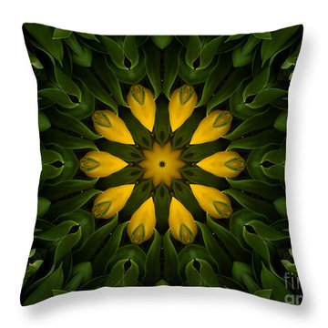 Floral Fantasy - 33 Throw Pillow by Hanza Turgul