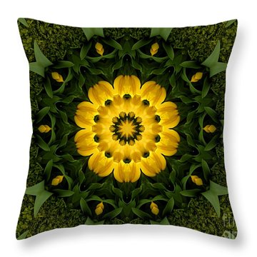 Floral Fantasy - 34 Throw Pillow by Hanza Turgul
