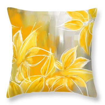Floral Glow Throw Pillow