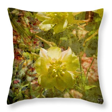 Throw Pillow featuring the photograph Floral Haze by Liz  Alderdice