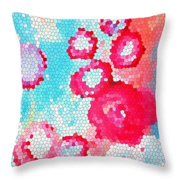 Floral IIi Throw Pillow by Patricia Awapara
