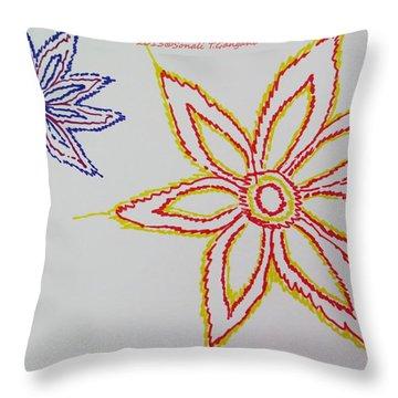 Floral Joy  Throw Pillow by Sonali Gangane