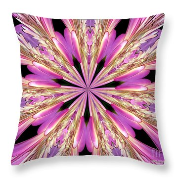 Throw Pillow featuring the photograph Floral Kaleidoscope  Waterlily by Rose Santuci-Sofranko