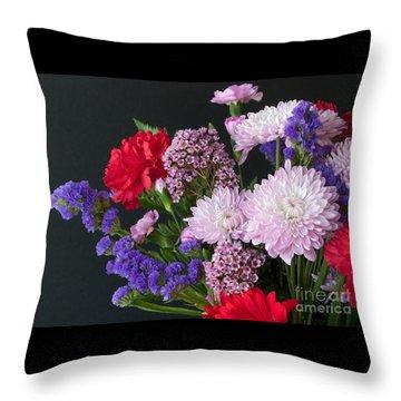 Floral Mix Throw Pillow by Ann Horn