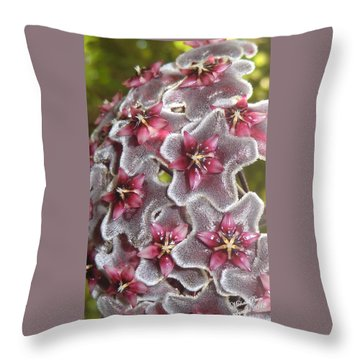 Floral Presence - Signed Throw Pillow