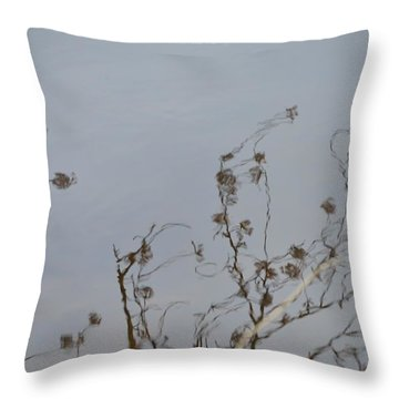 Floral Reflection Throw Pillow by Sonali Gangane