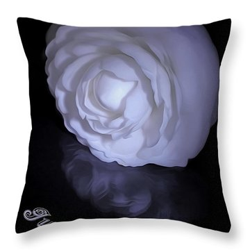 Floral Reflections 4 - Camellia Throw Pillow by Kaye Menner