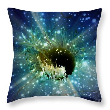Floral Stratosphere Throw Pillow by Leanne Seymour