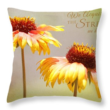 Floral Sunshine With Message Throw Pillow