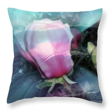 Throw Pillow featuring the photograph Floral Tides by Leanne Seymour