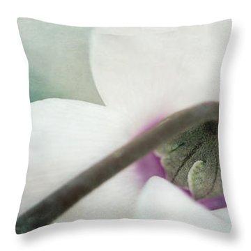 Floral Whites Throw Pillow by Priska Wettstein