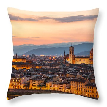 Florence At Dusk Throw Pillow