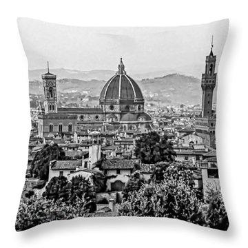 Florence Bw Throw Pillow