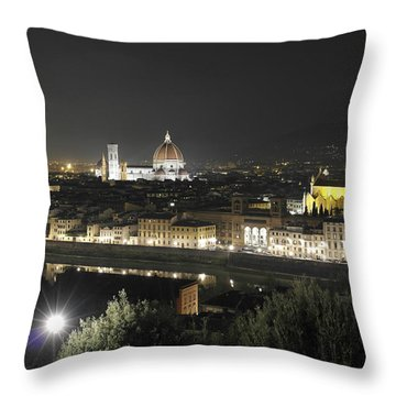 Florence By Night Throw Pillow