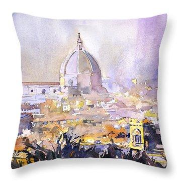 Florence Duomo Throw Pillow