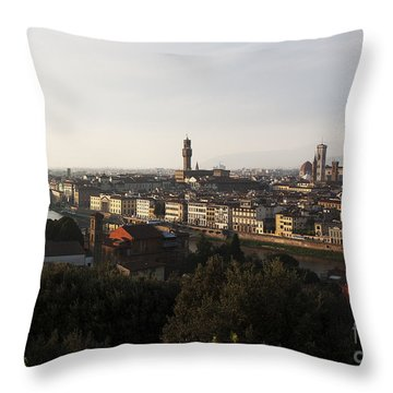 Florence Form The Piazza Michalengelo Throw Pillow by Belinda Greb