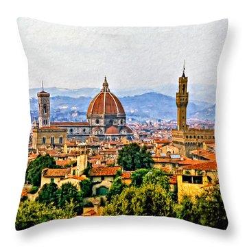 Florence - Oil Throw Pillow
