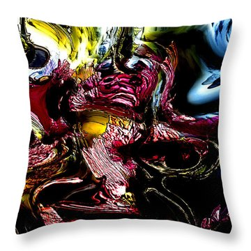 Throw Pillow featuring the digital art Flores' Darker More Uncomfortable Twin by Richard Thomas