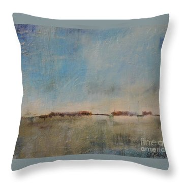 Throw Pillow featuring the painting Florescence    by Lori Jacobus-Crawford