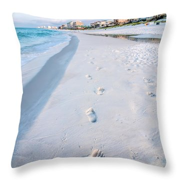 Florida Beach Scene Throw Pillow