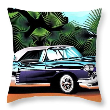Florida Car Throw Pillow by P Dwain Morris