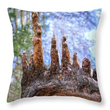 Florida Cypress Knee Throw Pillow