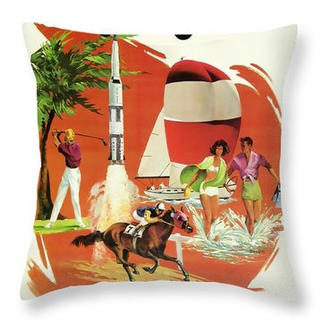 Florida Delta Airlines Throw Pillow