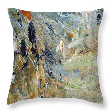 Florida Flyaway Throw Pillow by Nancy Kane Chapman