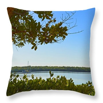 Florida Greenery Throw Pillow