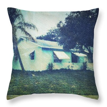 Florida House Throw Pillow by Beth Williams