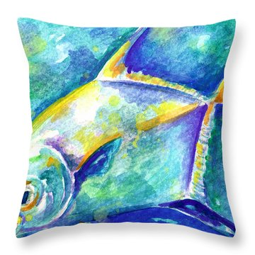 Florida Keys Permit Throw Pillow