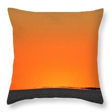 Florida Orange Throw Pillow