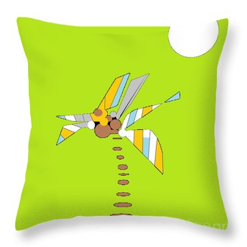 Florida Palm 1 Throw Pillow by Ann Calvo