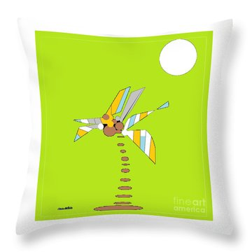 Florida Palm 1 Throw Pillow