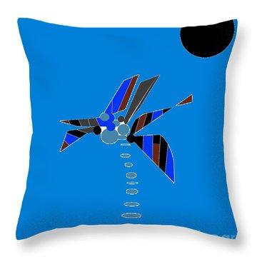 Throw Pillow featuring the digital art Florida Palm 2 by Ann Calvo