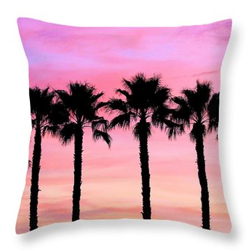 Florida Palm Trees Throw Pillow