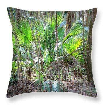 Florida Palmetto Bush Throw Pillow by Carol Groenen