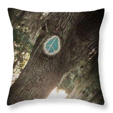 Florida Peace Throw Pillow